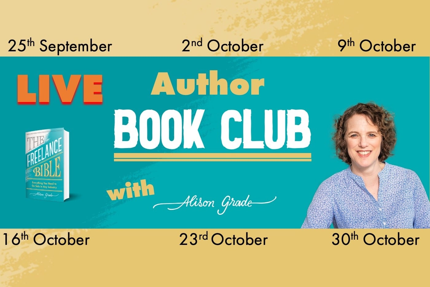 BOOK NOW: Live Online Author Book Club starts Friday 25th September 1