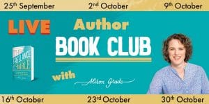 BOOK NOW: Live Online Author Book Club starts Friday 25th September 8